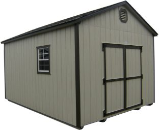 wood storage shed in mission or