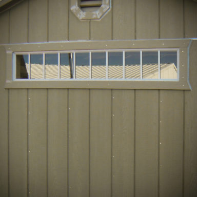 transom shed option