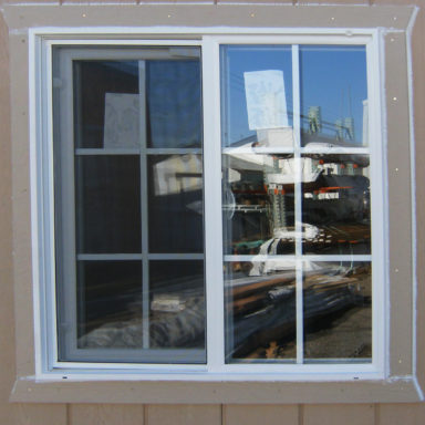 vinyl windows shed option