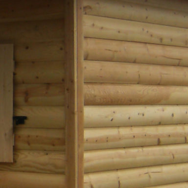Pine Log Siding shed option or