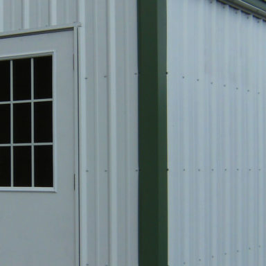 steel siding shed option or