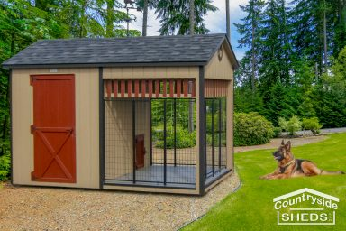 dog kennel in beautiful landscape design ideas
