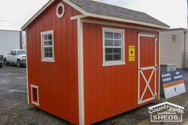 red chicken coop shed ideas