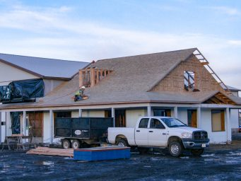 new office construction progress for northeast oregon shed shop