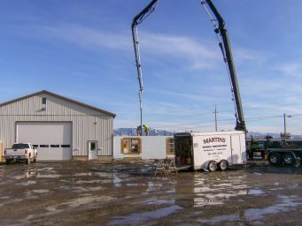 office building raising of new shed location in legrande oregon