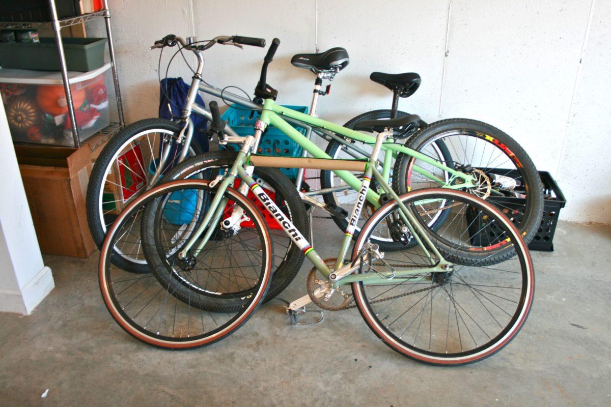 bike shed bikes in garage
