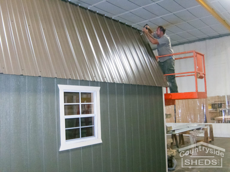 metal roofing on a tough shed