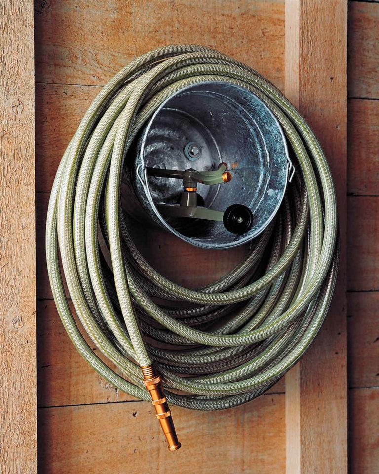 bucket hose reel garden starge shed