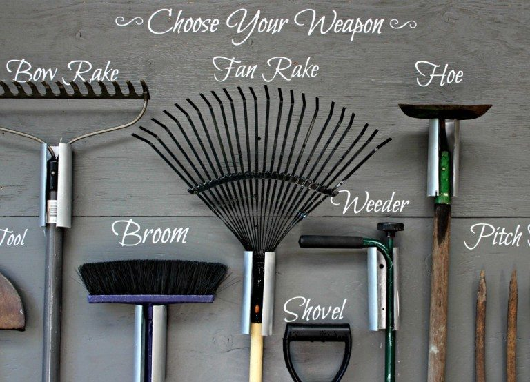 garden storage tool wall