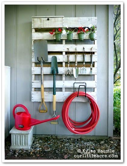 pallet garden storage rack