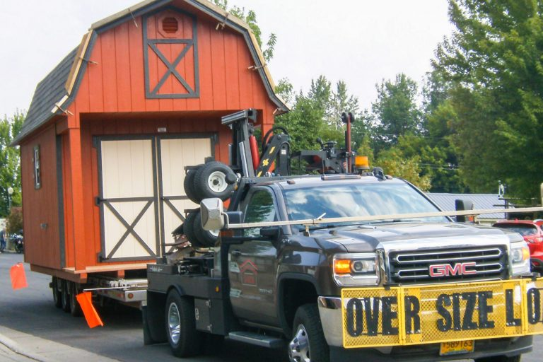 shed delivery process to Island City and La Grande and surrounding areas delivery financing