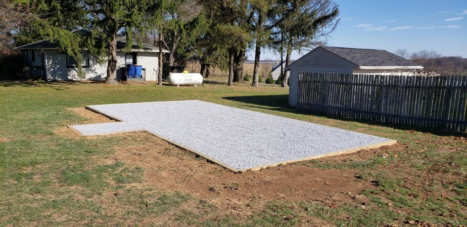 gravel shed pad
