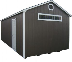 brown portable garage inor