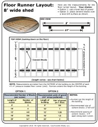 Country Side Sheds LLC 8 floor runner measurements
