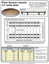 Country Side Sheds LLC 12 floor runner measurements
