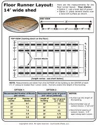 Country Side Sheds LLC 14 floor runner measurements
